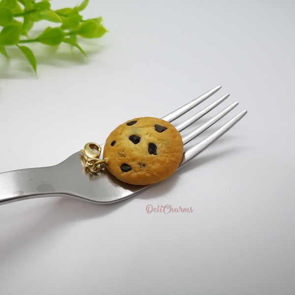 miniature chocolate chip cookie charm delicharms