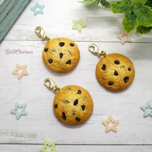 Cookie charm handmade clay food charms
