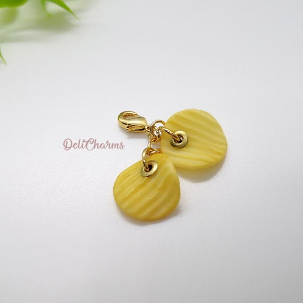 mini potato chip jewelry bag charms
