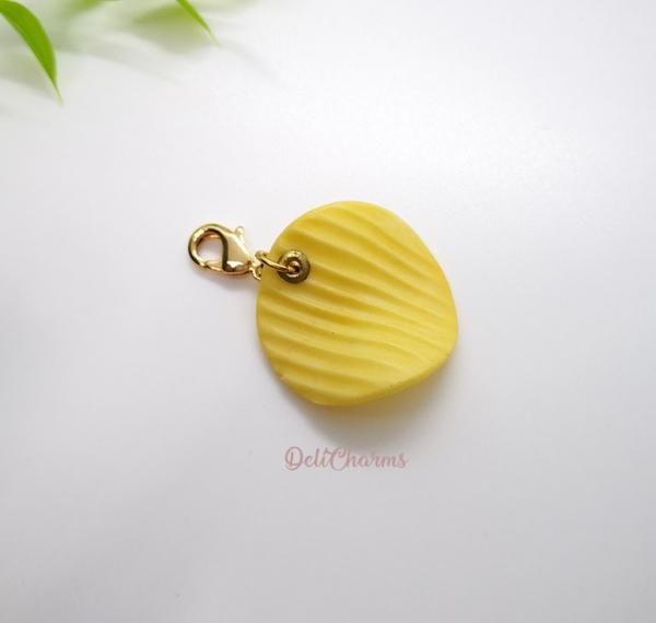 potato chip jewelry handmade food charm