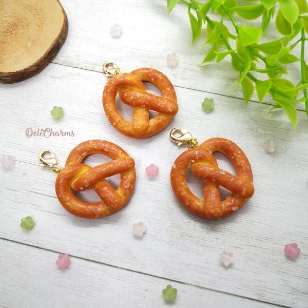 custom bag charm pretzel jewelry handmade charms