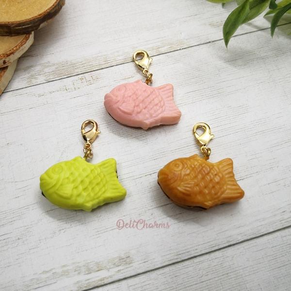 handmade Taiyaki charm miniature taiyaki handmade charms