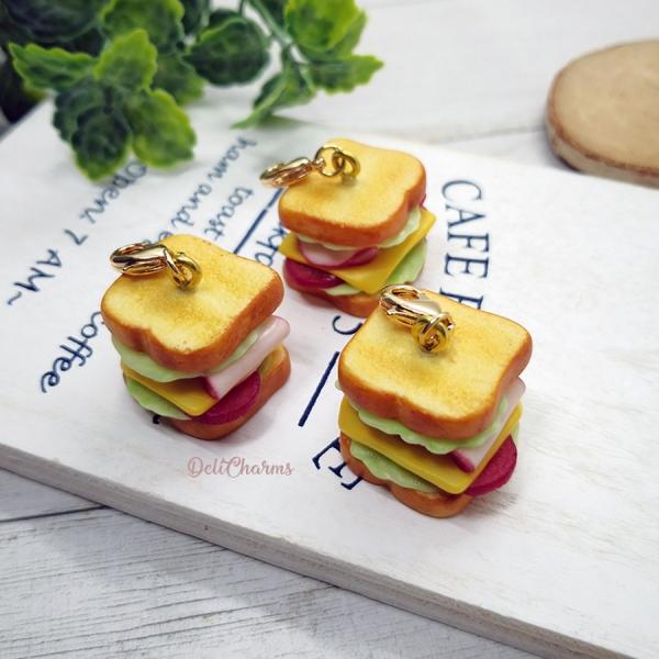 sandwich bag charm miniature food charm handmade charms