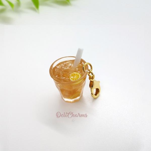 miniature ice lemon tea charm