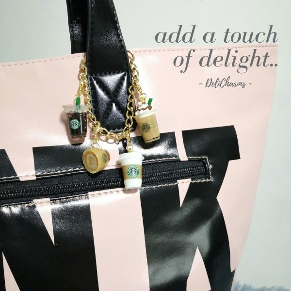 Bag charm starbucks coffee charm cute bag charms delicharms