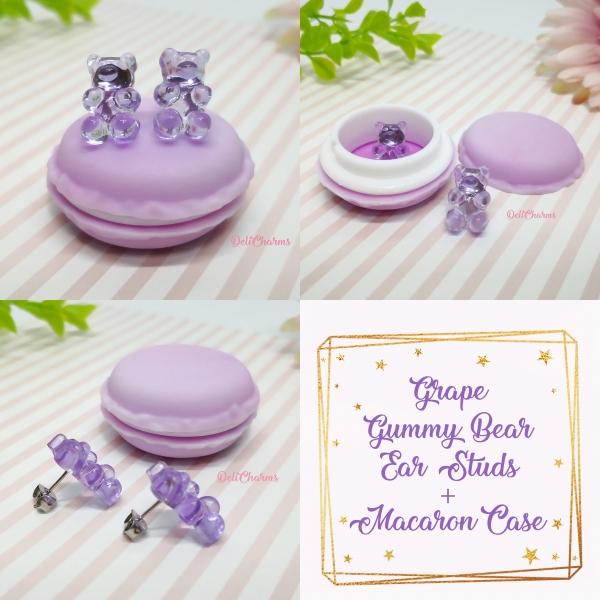 Gummy bear jewelry cute miniature fake food grape delicharms
