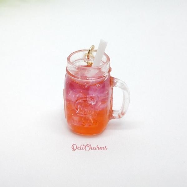Miniature drink mason jar bag charm dollhouse delicharms
