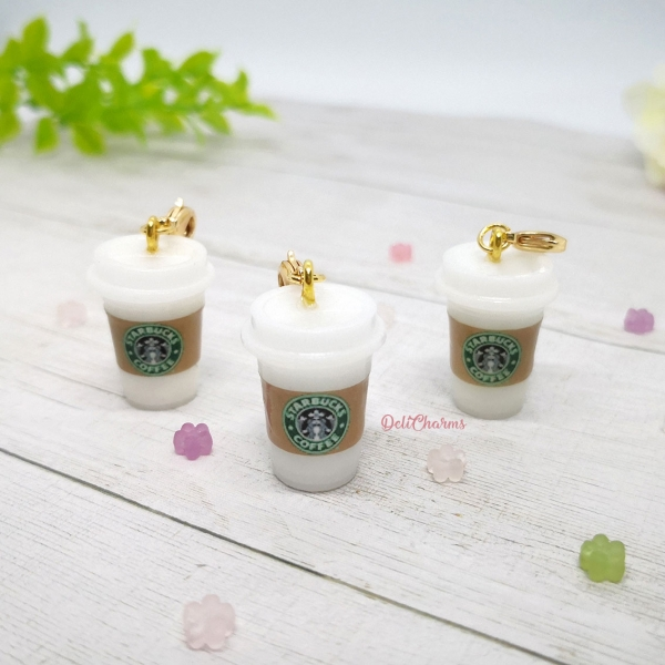 Starbucks Coffee bag charm miniature drink dollhouse delicharms