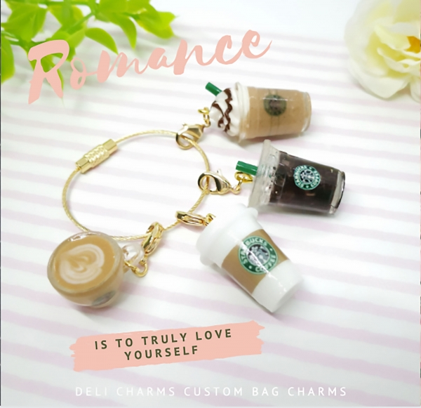 Starbucks charms Coffee bag charms miniature drinks delicharms