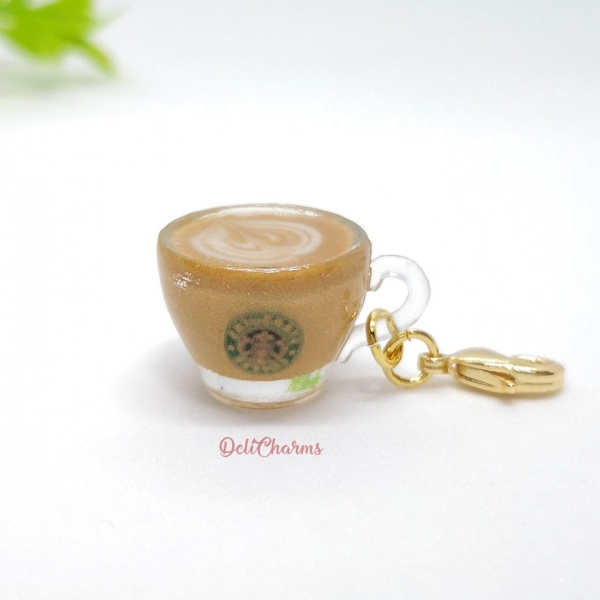 dollhouse miniature starbucks coffee latte bag charm delicharms