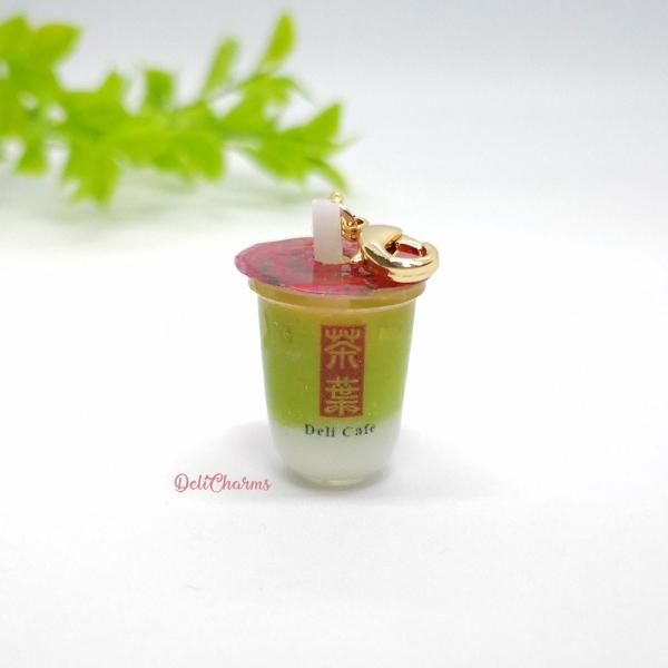 gong cha green tea charm miniature green tea charm