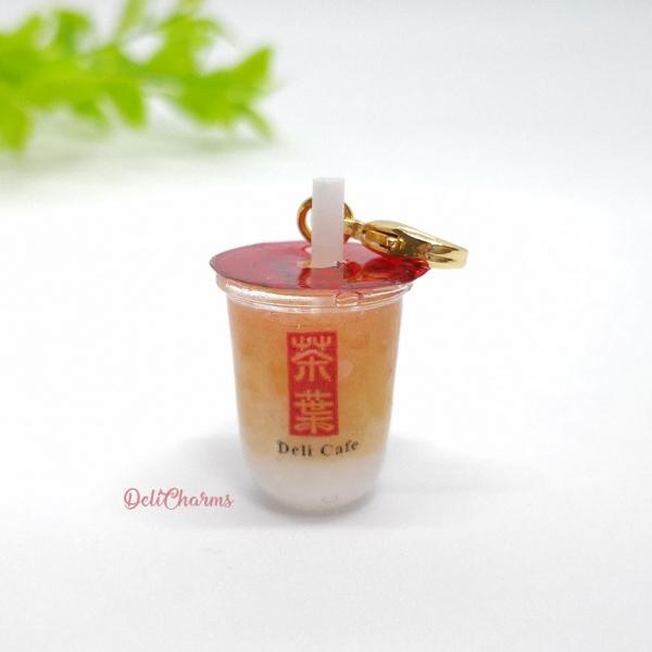 gong cha milk tea charm miniature bubble tea charm