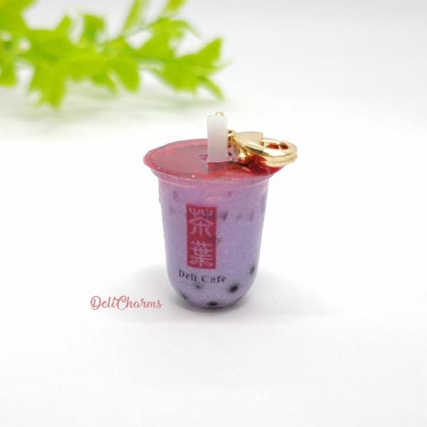 gong cha yam milk tea bubble tea charm bag charms boba tea keychain handmade charms