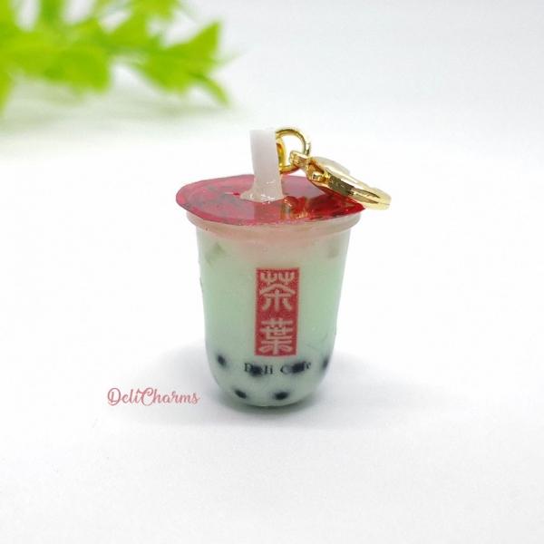 melon boba tea keychain bubble tea charm delicharms