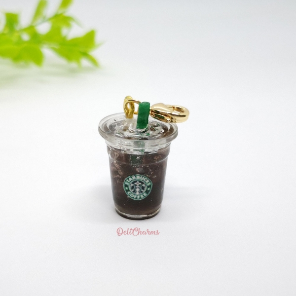 ice americano starbucks charm miniature food charm delicharms handmade charms