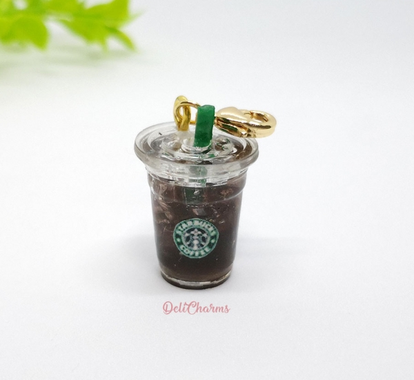 ice americano starbucks charm miniature food charm delicharms handmade charms