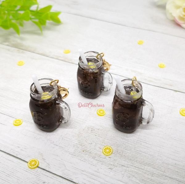 miniature mason jar coke bag charm cola charm delicharms handmade charms