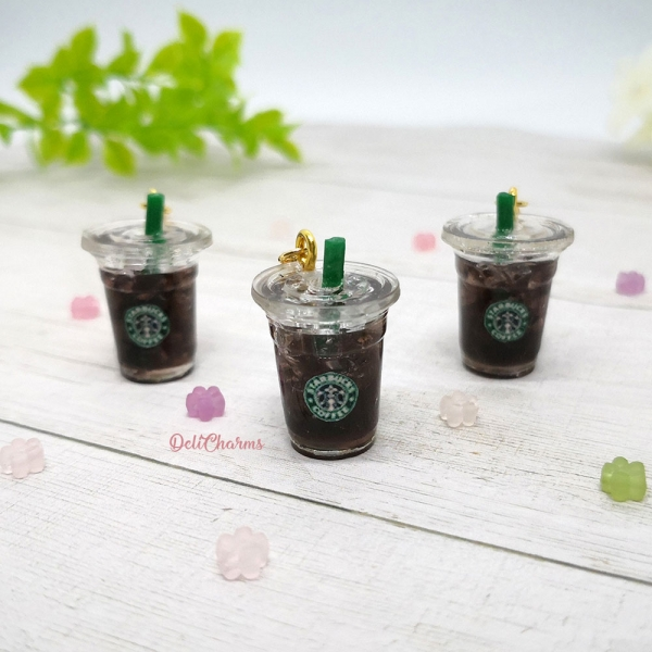 starbucks charms americano miniature food charm delicharms