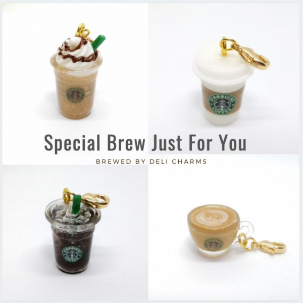 starbucks coffee bag charm handmade charms delicharms