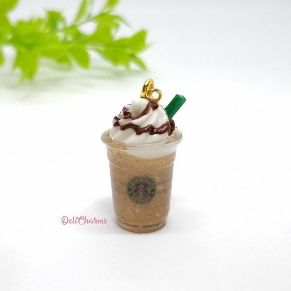 starbucks frappuccino charm dollhouse miniature drink bag charm handmade charms