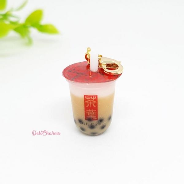 bubbleboba tea charm keychain christmas gifts for girls handmade charms