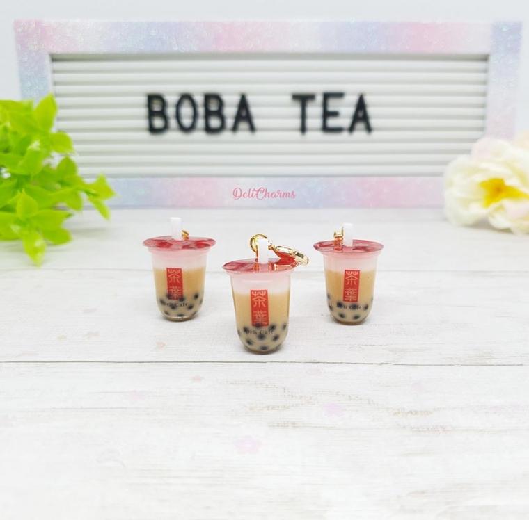 boba tea keychain charm keychain gifts for wife handmade charms