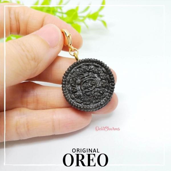 mini oreo cookie charm handmade clay miniature fake food jewelry delicharms