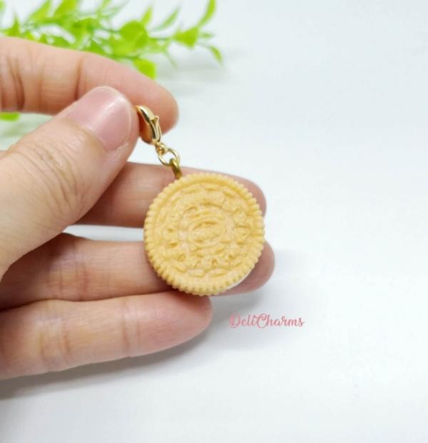 Oreo cookie charm handmade clay charms food charms wearable food delicharms