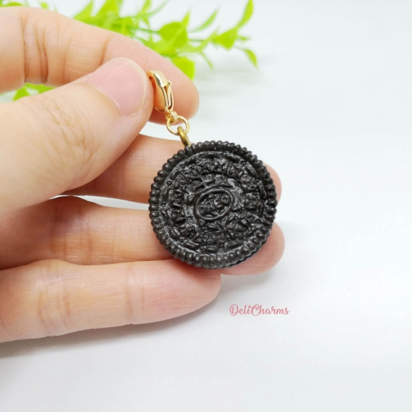 Oreo cookie handmade charms miniature oreo fake food jewelry