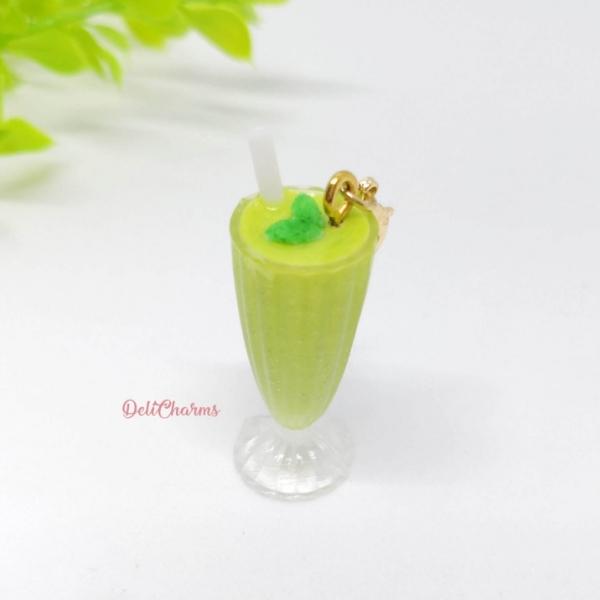 smoothie avocado mint milkshake bag charm drinks charm