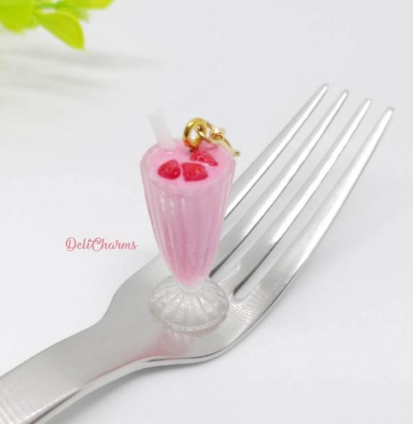smoothie bag charm handmade miniature resin charms