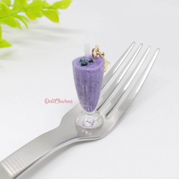 smoothie blueberry smoothie charm mini milkshake charm