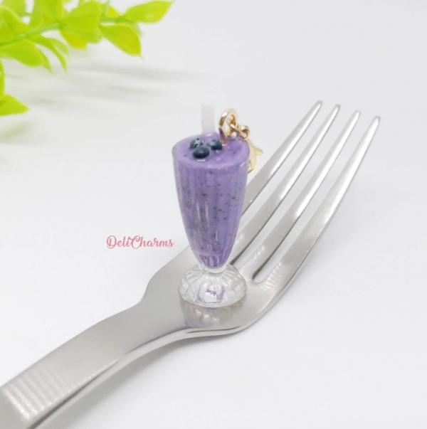 smoothie blueberry smoothie charm mini milkshake charm