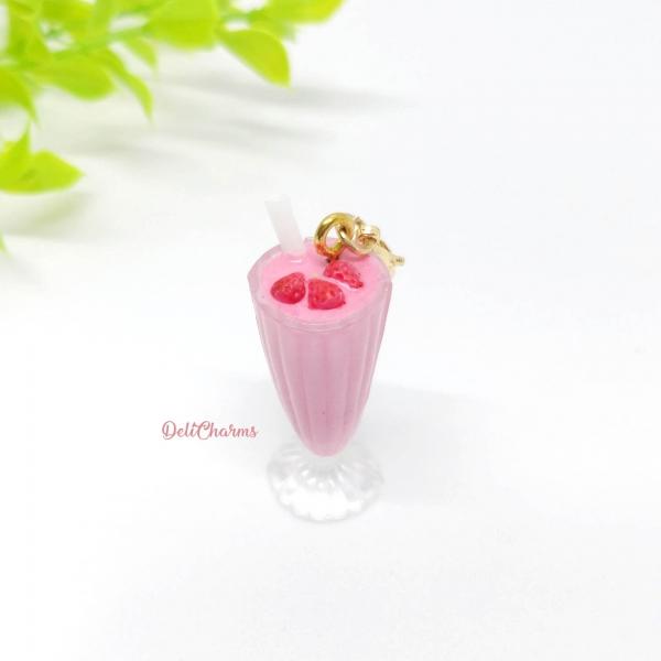 smoothie miniature strawberry smoothie milkshake charms