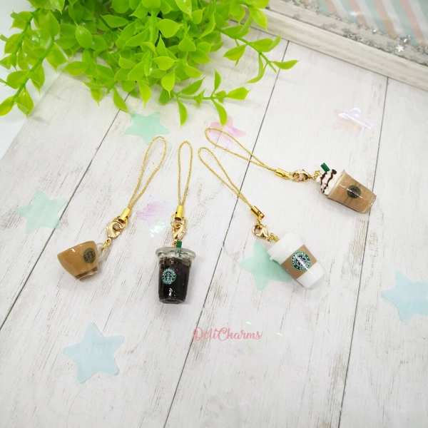 starbucks charms cellphone strap starbucks coffee gifts delicharms