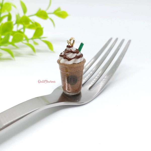 starbucks chocolate Mocha frappuccino handmade coffee charm