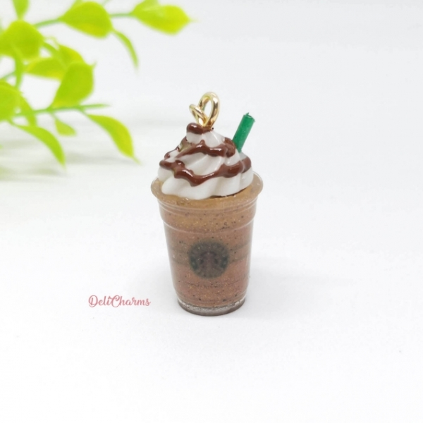 starbucks chocolate mini frappuccino charm starbucks keychain