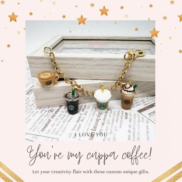 starbucks keychain coffee charm bracelet christmas gifts for barista