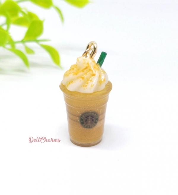 starbucks keychain pumpkin spice latte charm miniature frappuccino delicharms