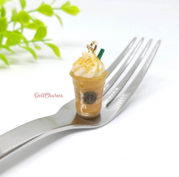starbucks pumpkin spice frappuccino mini starbucks charm keychain