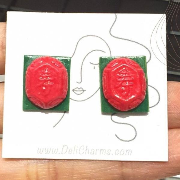 Kueh earrings miniature ang ku kueh