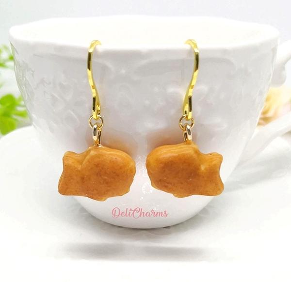 Taiyaki earrings miniature taiyaki bag charm jewelry