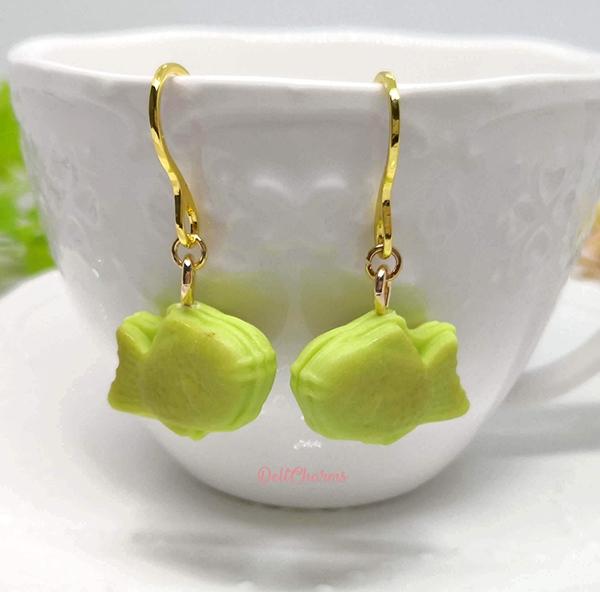 Taiyaki earrings miniature taiyaki charm handmade clay food