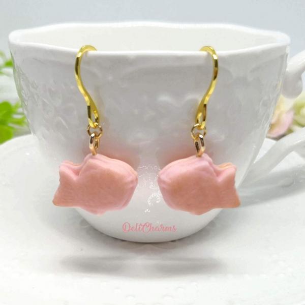 Taiyaki sakura earrings mini food earrings delicharms