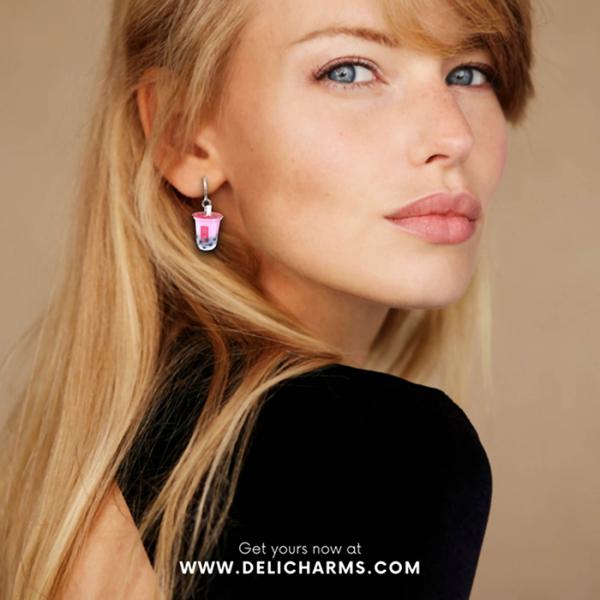 bubble tea earrings delicharms