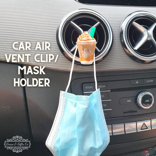 Miniature Starbucks car air vent clip delicharms