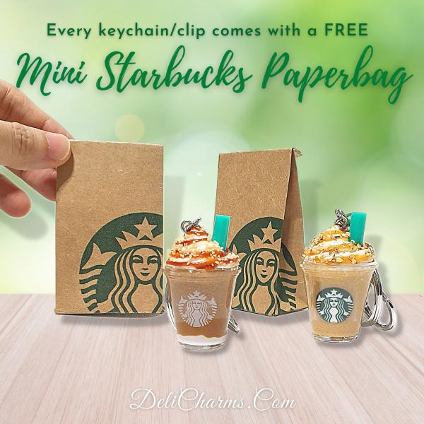 Starbucks key ring keychain mini starbucks bag delicharms