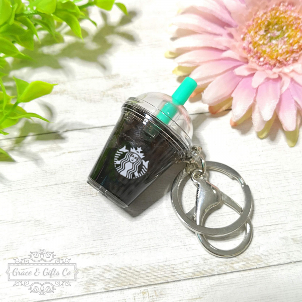 Miniature Starbucks keychain Iced Americano 2