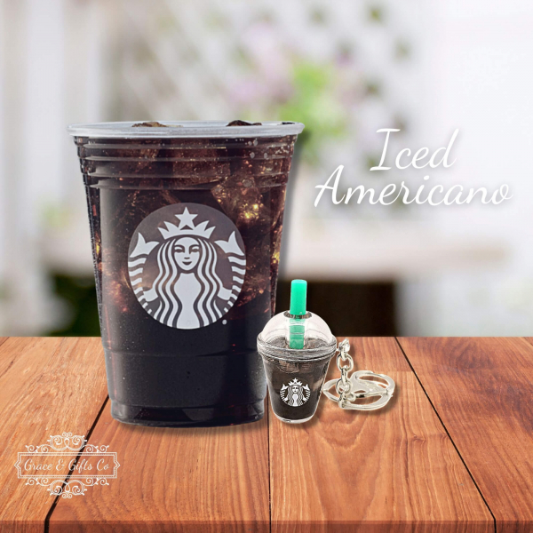 Starbucks keychain Iced Americano