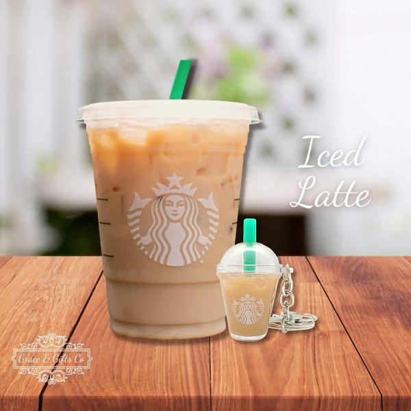 Starbucks keychain Iced Latte2
